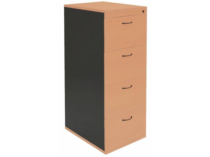 4 Drawer Filing Cabinet- Beech