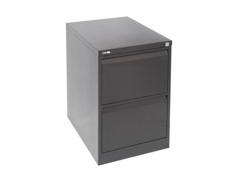 2 Drawer Steel Filing Cabinet - Black Ripple