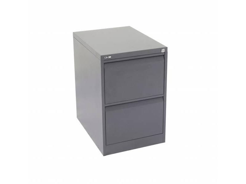 2 Drawer Steel Filing Cabinet - Graphite Ripple