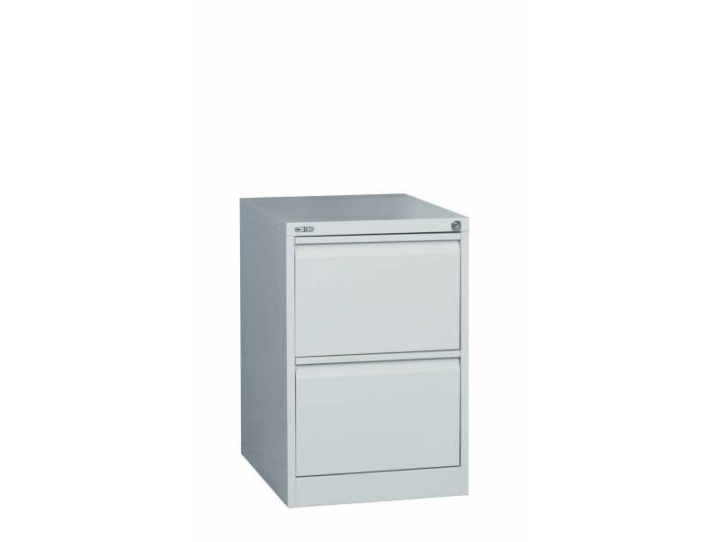2 Drawer Steel Filing Cabinet - Grey