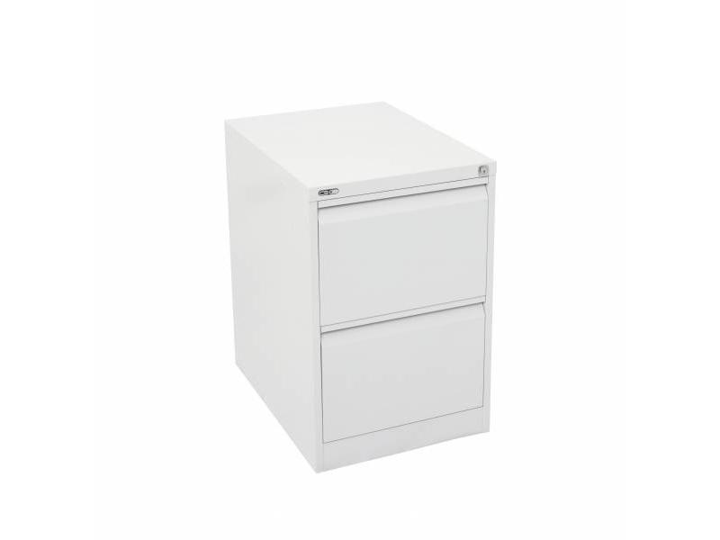2 Drawer Steel Filing Cabinet - White