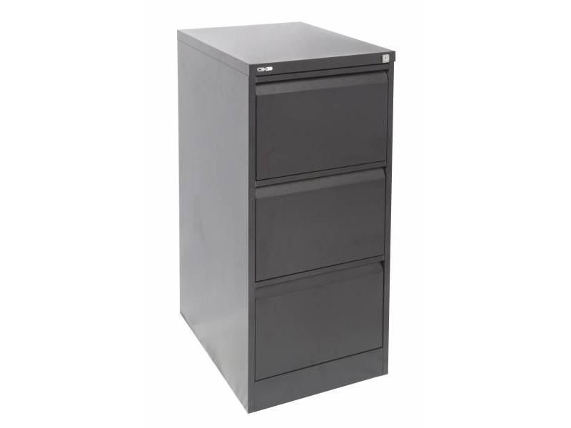 3 Drawer Filing Cabinet - Black Ripple