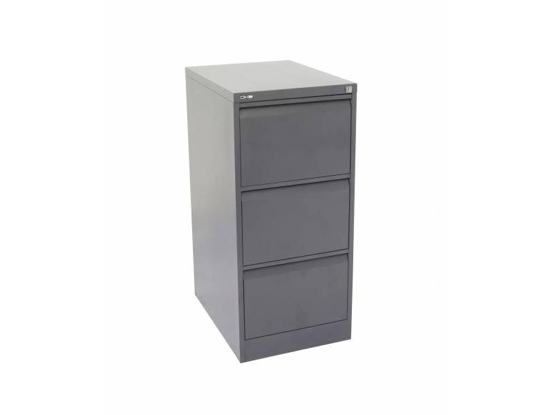 3 Drawer Filing Cabinet - Graphite Ripple