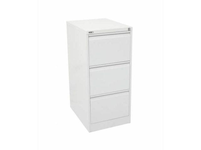 3 Drawer Filing Cabinet - White