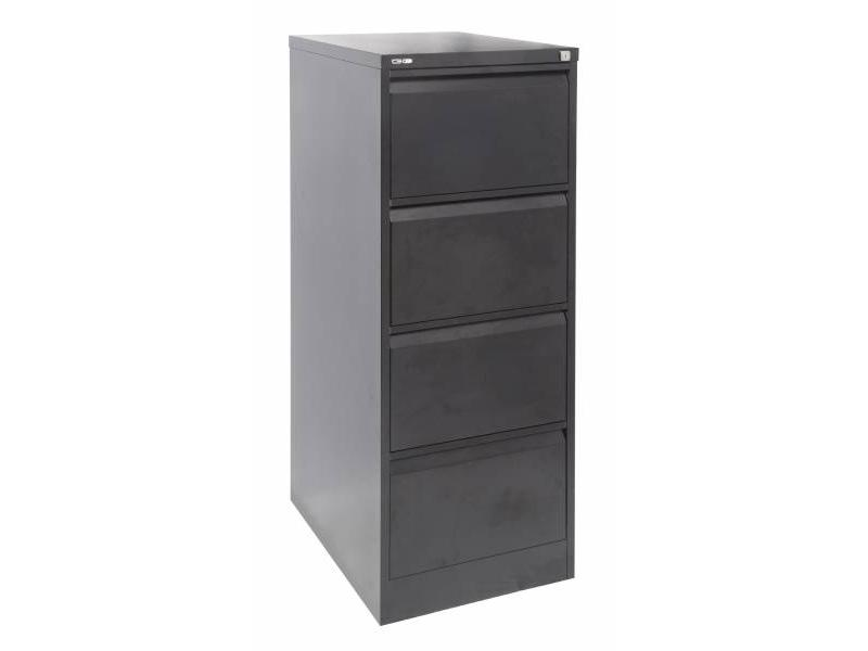 4 Drawer Filing Cabinet - Black Ripple