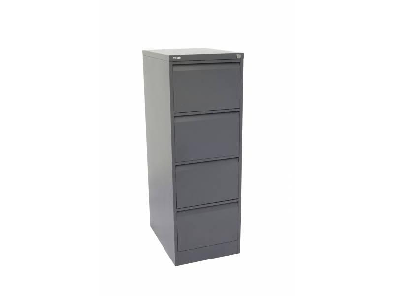 4 Drawer Filing Cabinet - Graphite Ripple