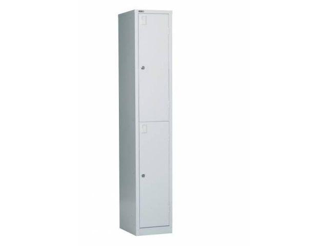 Lockers - 2 Door 380: Grey