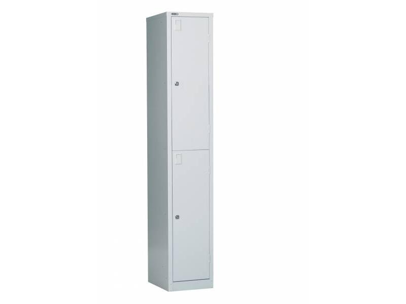 Lockers - 2 Door 380: Grey