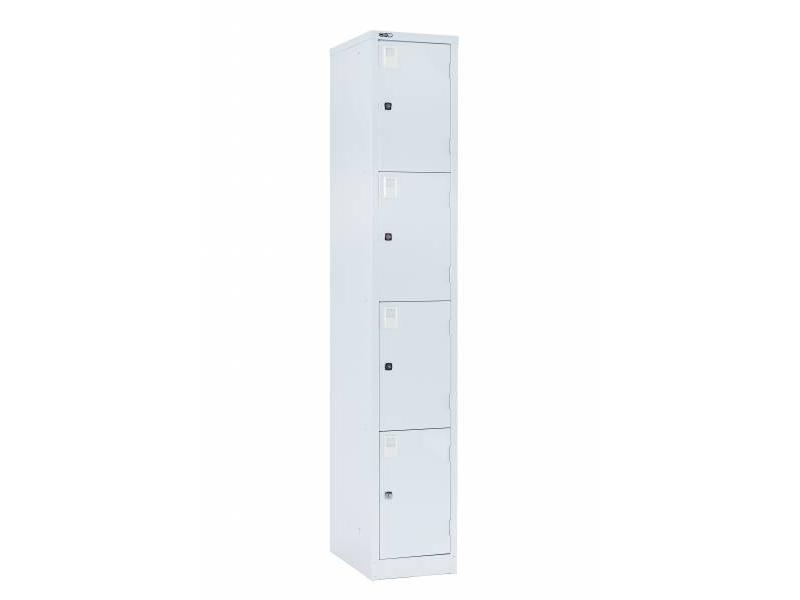 Lockers - 4 Door 380: Grey