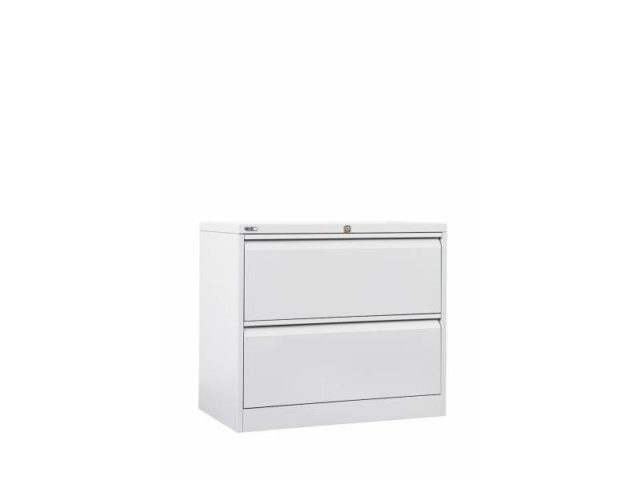2 Drawer Lateral Filing Cabinet - White
