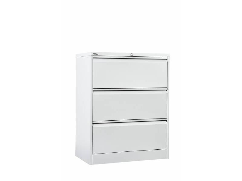 3 Drawer Lateral Filing Cabinet - White