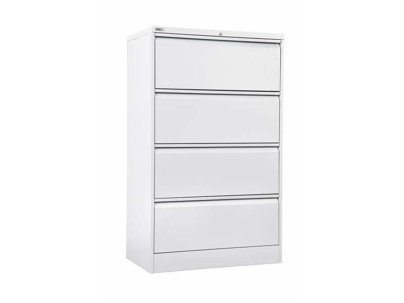 4 Drawer Lateral Filing Cabinet - White