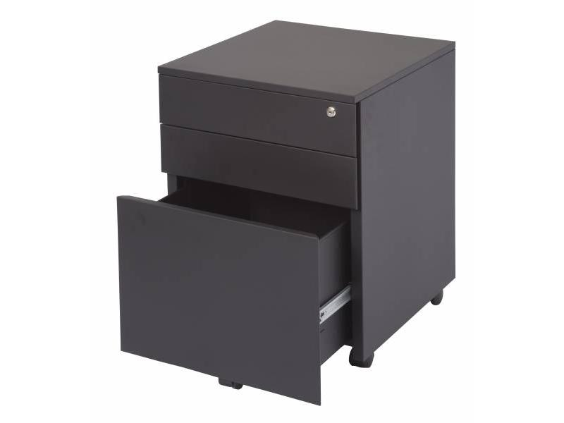 2+1 Mobile Pedestal - Black Ripple