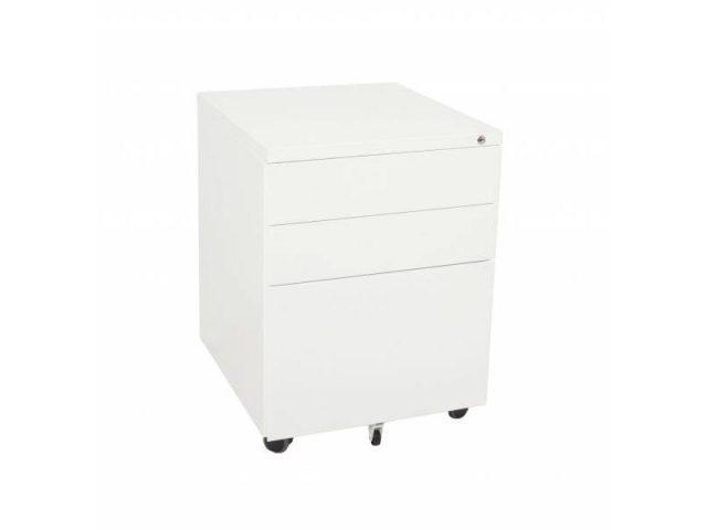 2+1 Mobile Pedestal - White China