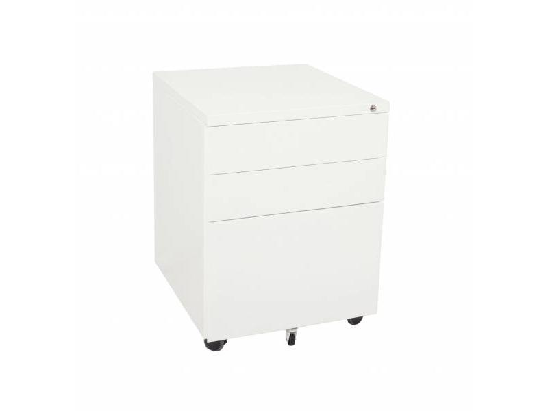 2+1 Mobile Pedestal - White China