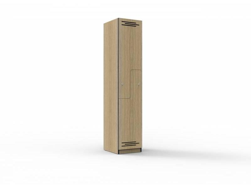 Melamine Lockers - 2 stepped door 380mm